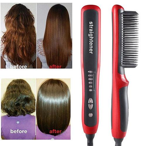 Multifunctional Beard Straightener Styler Brush Men Heat Hair