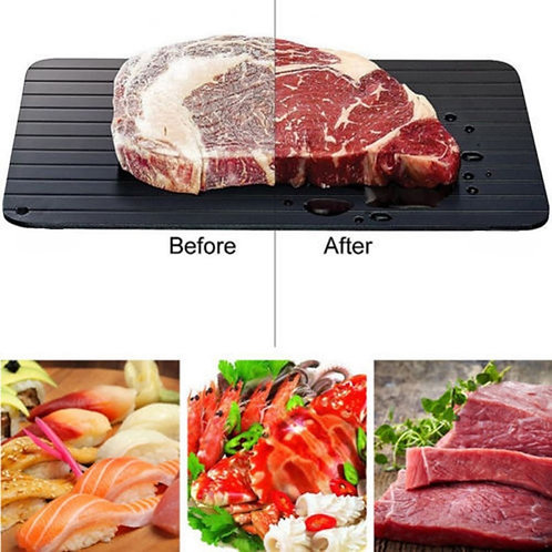 Meijuner Fast Defrosting Tray Thaw Frozen Food Meat Fruit Quick