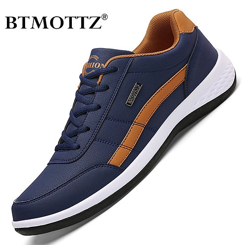 Leather Men Shoes Luxury Brand England Trend Casual Shoes Men