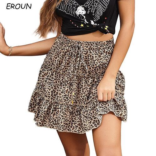 Summer Trend New Miniskirt Female Sexy Leopard Print Skirt