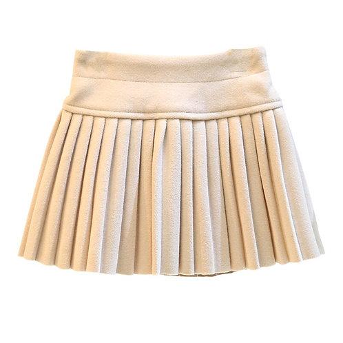 New Toddler Girls Pleated Skirt 2019 Winter Soild Elastic Waist