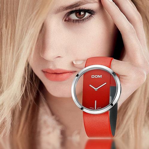 DOM Watch Women Luxury Fashion Casual 30 M Waterproof