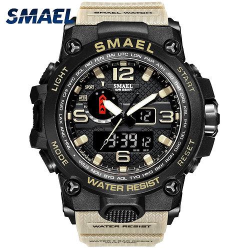 Men Military Watch 50m Waterproof Wristwatch LED Quartz