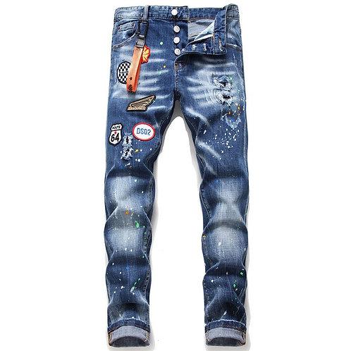 European Dsq Italy Jeans Famous Brand Men Slim Jeans Pants Mens