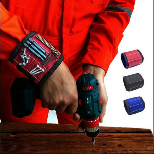 Magnetic Wristband Portable Tool Bag With 3 Magnet Electrician