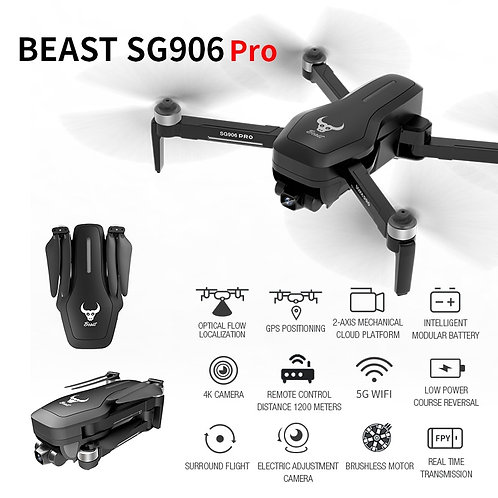 ZLRC SG906 PRO GPS Drone With 2-Axis Anti-Shake Self-Stabilizing