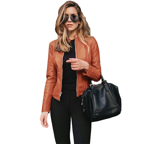 HDStyle Autumn Jacket Women Coat Jacket PU Leather Outwear
