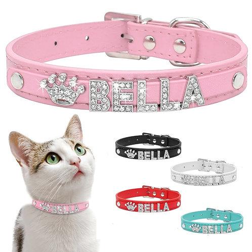 Personalized Cat Collar Rhinestone Puppy Small Dogs Collars