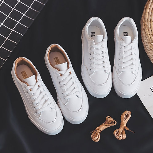 Women Sneakers Leather Shoes Spring Trend Casual Flats Sneakers