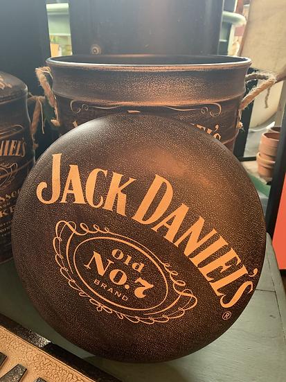 Large Jack Daniels Storage Stool