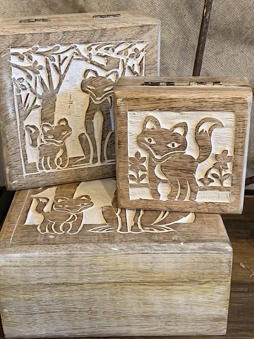 Set of 3 Fox Boxes