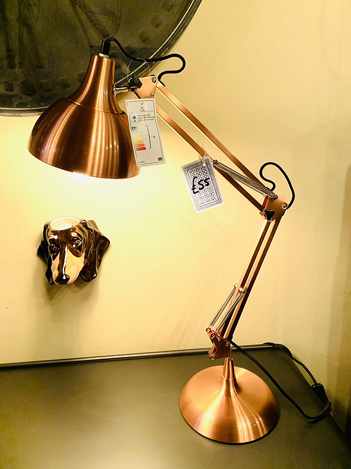 Copper angle-poise Lamp