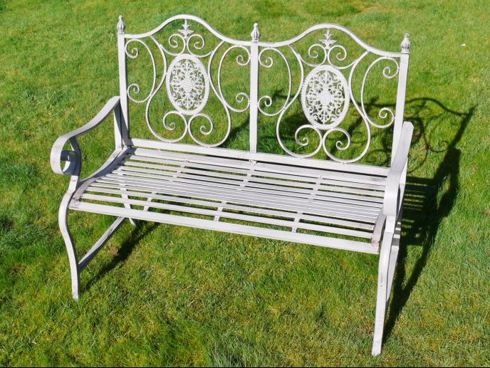 Pretty Metal Garden Bench