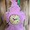 Thumbnail: Baroque Style Flock Clock in Pink