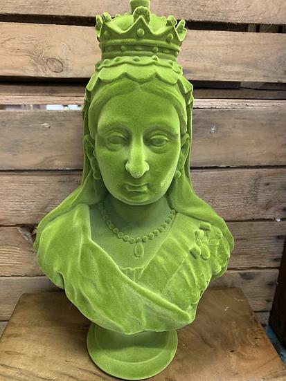 Large Green Flock Queen Victoria Bust