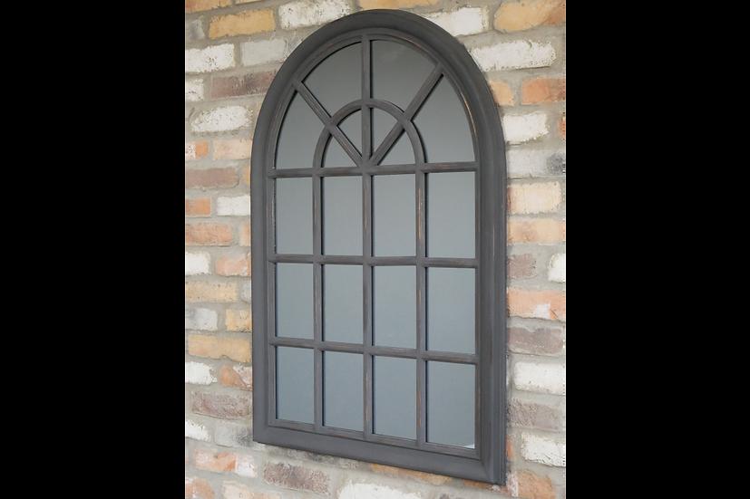 Black Interior Arch Top Mirror