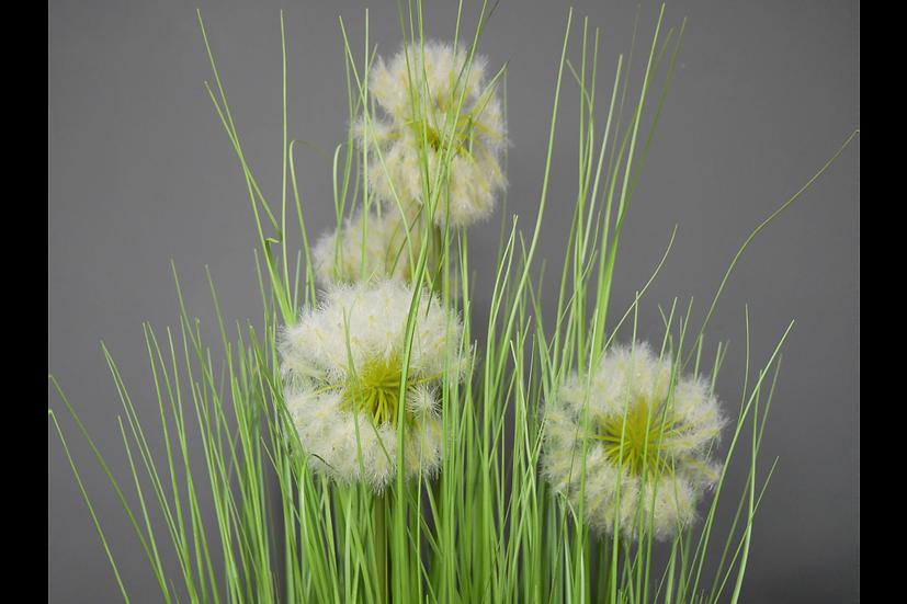 A Pot of Artificial Dandelions