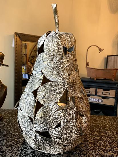 Metal Pear Candle Lantern