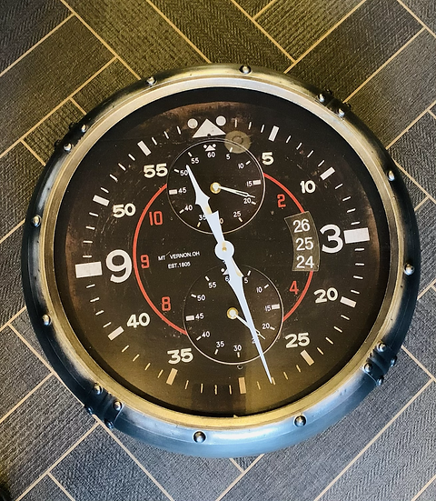 Aviation Inspired Clock