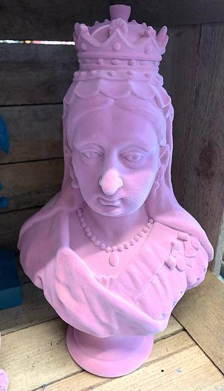 Large Pink Flock Queen Victoria Bust