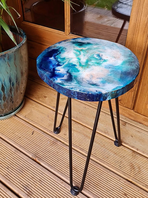 Locally Crafted Epoxy Resin Side Table
