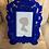 Thumbnail: Elegant Baroque Style Blue Flock Frame