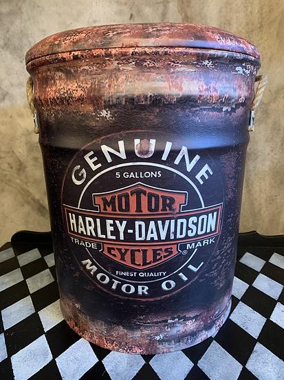 Large Harley Storage Stool