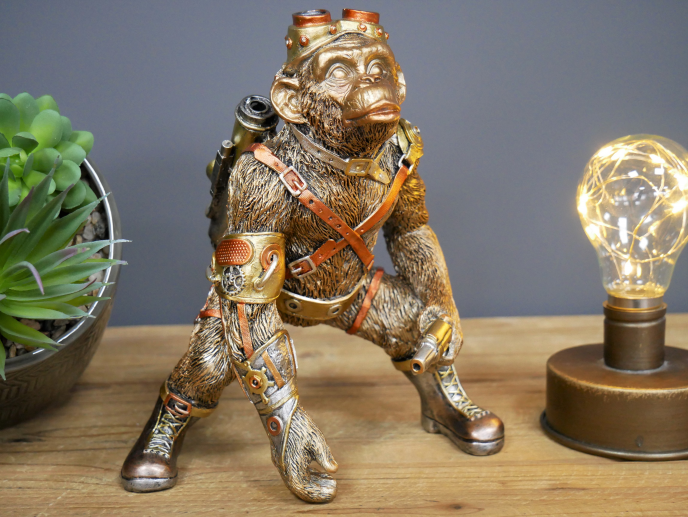 Steampunk Monkey Gold