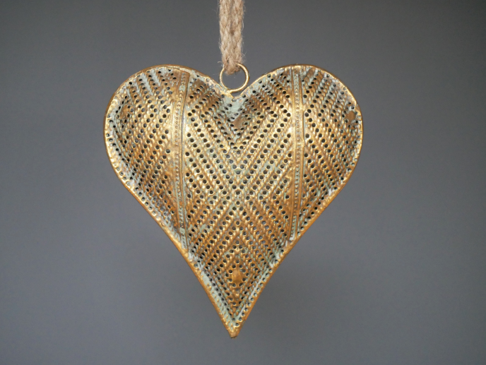 Small Metal Hanging Heart