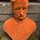 Thumbnail: Large Orange Flock Albert Bust
