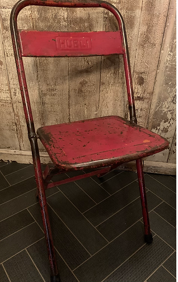 Vintage Industrial Style Folding Chair