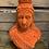 Thumbnail: Large Orange Flock Bust of Queen Victoria