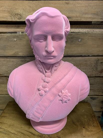 Large Pink Flock Albert Bust