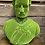 Thumbnail: Large Green Flock Bust of Albert