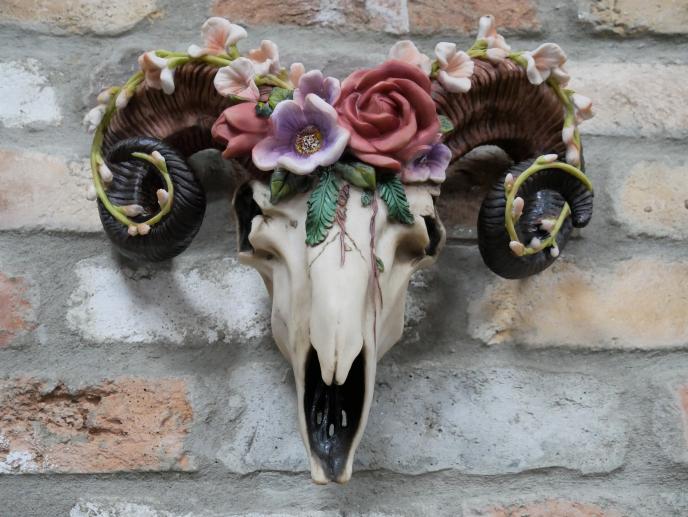 Flower Skull Head