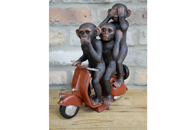 Wise Monkeys on a Scooter