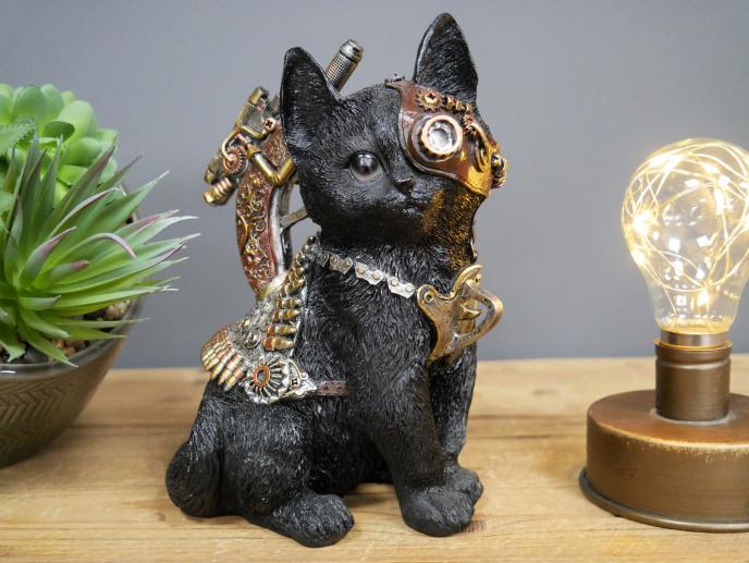 Steampunk Black Kitten