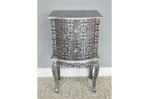 Embossed Bedside Chest