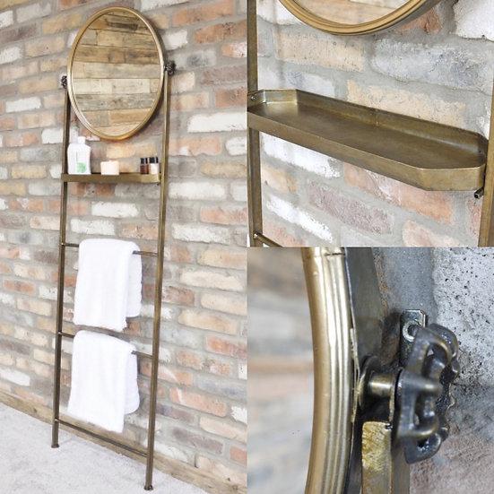 Ladder Towel Rail with Mirror