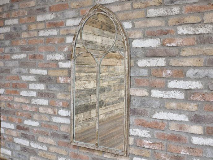 Metal Gothic Garden Mirror