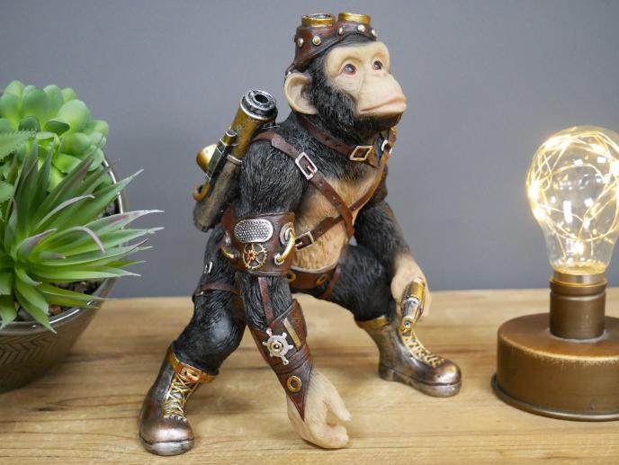 Steampunk Monkey Black