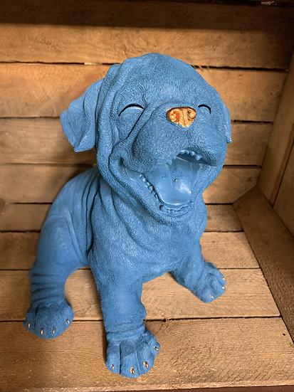 Blue Laughing Puppy