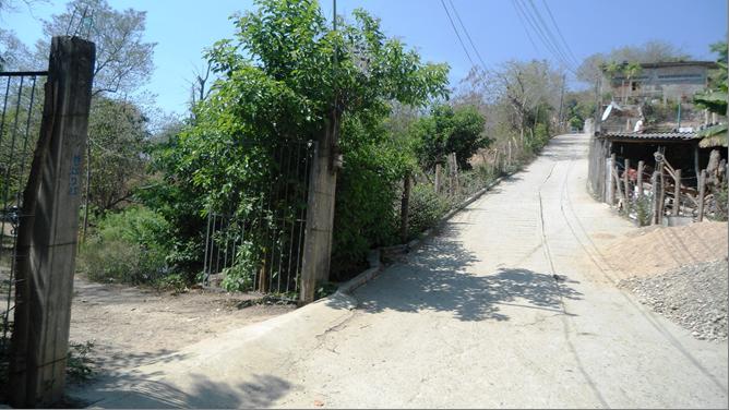 a orilla de calle pavimentada