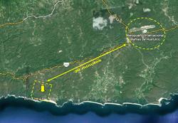 distancia entre AEROPUERTO y 250 hec
