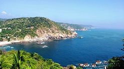 For sell Commercial land with panoramic views and access to beautiful beach, near from Huatulco and Zipolite beach. / SE VENDE TERRENO CON ACCESO A LA PLAYA EN ESTACAHUITE