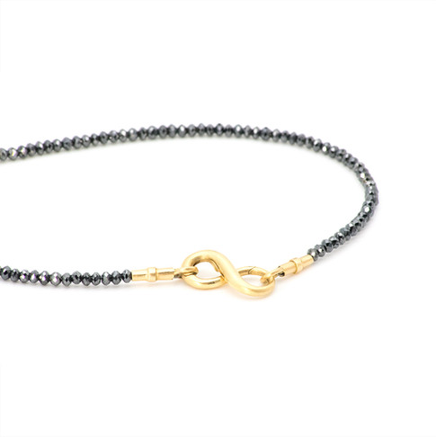 """victoria"" black diamond necklace"