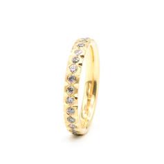 Salt & Pepper diamond ring