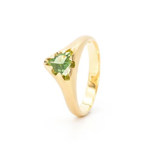 """""""Victoria"""" ring with green tourmaline"""
