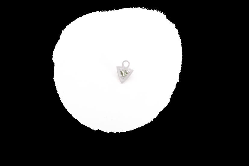 Mini earring pendant with green sapphire