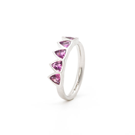 """""""Victoria"""" five stones ring with garnets"""